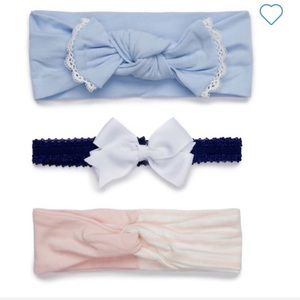 3 Infant Headbands-NWT-Crown & Ivy-Super Cute!